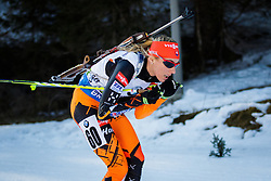 Terezia Poliakova (SVK) competes during Women 10 km Pursuit at day 3 of IBU Biathlon World Cup 2015/16 Pokljuka, on December 19, 2015 in Rudno polje, Pokljuka, Slovenia. Photo by Ziga Zupan / Sportida