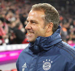 25.01.2020, Allianz Arena, Muenchen, GER, 1. FBL, FC Bayern Muenchen vs Schalke 04, 19. Runde, im Bild hat gut Lachen - Trainer Hansi Flick // during the German Bundesliga 19th round match between FC Bayern Muenchen and Schalke 04 at the Allianz Arena in Muenchen, Germany on 2020/01/25. EXPA Pictures © 2020, PhotoCredit: EXPA/ SM<br /> <br /> *****ATTENTION - OUT of GER*****
