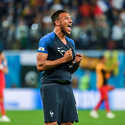Corentin Tolisso of France celebrates the victory during the Semi Final FIFA World Cup match between France and Belgium at Krestovsky Stadium on July 10, 2018 in Saint Petersburg, Russia. (Photo by Anthony Dibon/Icon Sport)