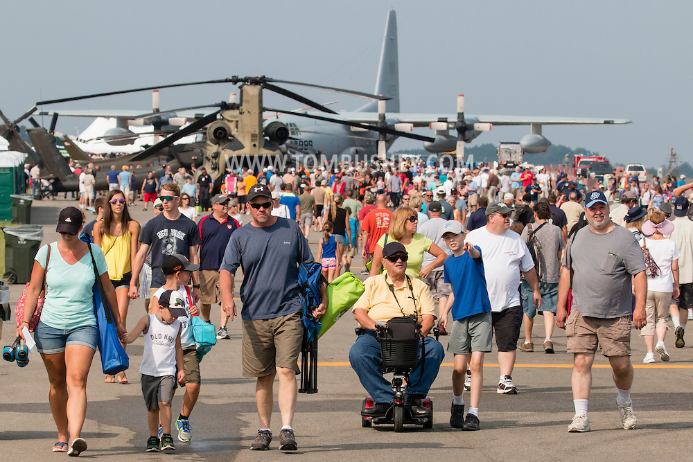 New Windsor, New York - The second day of the New York Air Show at Stewart International Airport was held on Aug. 30, 2015.