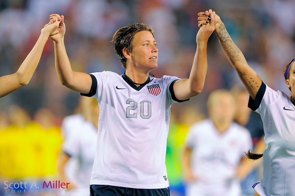 U.S. forward Abby Wambach (20) following the United States' 4-1 win over Brazil in an international friendly at the Florida Citrus Bowl on Nov. 10, 2013 in Orlando, Florida. <br /> <br /> &copy;2013 Scott A. Miller