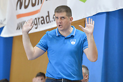 Skoko Mirko head coach of MRK Krka during handball match between RK Krka and RK Celje Pivovarna Lasko in the Final of Slovenian Men Handball Cup 2018, on April 22, 2018 in Sportna dvorana Ljutomer , Ljutomer, Slovenia. Photo by Mario Horvat / Sportida