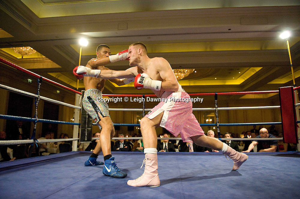 Lee Duncan defeats Joe Smyth at London's Millennium Hotel, Mayfair, 28th January 2010 - Mayfair Sporting Club (Mickey Helliet) Credit: © Leigh Dawney Photography