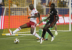 September 27, 2017 - Harrison, New Jersey, United States - Bradley Wright-Phillips (99) of Red Bulls controls ball during regular MLS game against DC United at Red Bull Arena  (Credit Image: © Lev Radin/Pacific Press via ZUMA Wire)