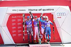 16.03.2017, Aspen, USA, FIS Weltcup Ski Alpin, Finale 2017, SuperG, Herren, Siegerehrung, im Bild Hannes Reichelt (AUT) // Hannes Reichelt of Austria during the winner award ceremony for the men's Super-G of 2017 FIS ski alpine world cup finals. Aspen, United Staates on 2017/03/16. EXPA Pictures © 2017, PhotoCredit: EXPA/ Erich Spiess