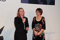 Left to right, LOUISE WYMER and KATE SILVERTON at the presentation of the Veuve Clicquot Business Woman Award 2010 held at the Institute of Contemporary Arts, 12 Carlton House Terrace, London on 23rd March 2010.  The winner was Laura Tenison - Founder and Managing Director of JoJo Maman Bebe.
