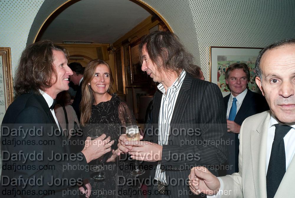 PIERRE LEGRANGE; ? IVOR BRAKA, BRIONI FRAGRANCE LAUNCH. Annabels. Berkeley Sq. London. 14 October 2009.