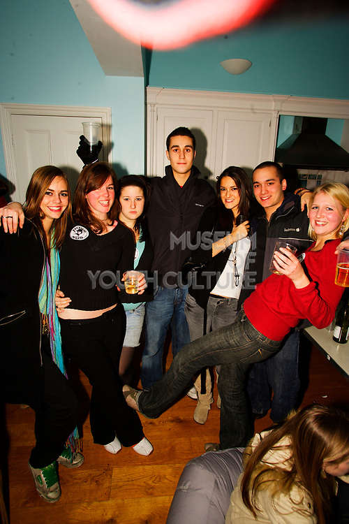 Group shot at House Party, Muswell Hill, London. 24/11/05