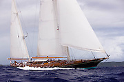 Signe racing at the Superyacht Cup Regatta.