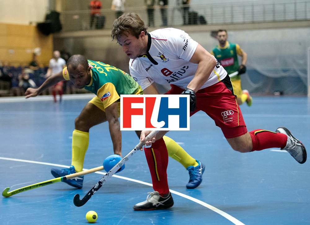 BERLIN - Indoor Hockey World Cup<br /> South Africa - Belgium<br /> foto: Maxime Plennevaux <br /> WORLDSPORTPICS COPYRIGHT FRANK UIJLENBROEK