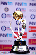 The Paytm Women ODI trophy kept at display during the press conference held at the Reliance Cricket Stadium in Vadodara, ahead of the first ODI match between India and Australia on the 11th March 2018<br /> <br /> <br /> Photo by Vipin Pawar / BCCI / SPORTZPICS