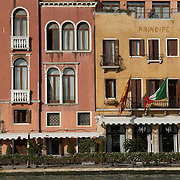 Italy, Veneto, Venice. November/12/2007...The Hotel Principe on the banks of the Grand Canal in Venice, Italy..