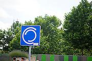 France, Paris, Traffic sign roundabout