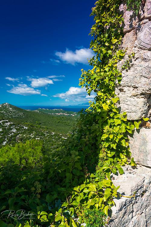 St. Michael's Fort (13th Century Venetian ruins) Ugljan Island, Dalmatian Coast, Croatia