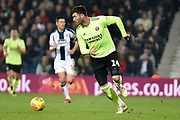 Sheffield United forward (on loan from Cardiff City) Gary Madine (14) sprints forward with the ball during the EFL Sky Bet Championship match between West Bromwich Albion and Sheffield United at The Hawthorns, West Bromwich, England on 23 February 2019.