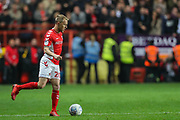 Charlton Athletic midfielder Chris Solly (20) during the EFL Sky Bet League 1 second leg Play-Off match between Charlton Athletic and Doncaster Rovers at The Valley, London, England on 17 May 2019.