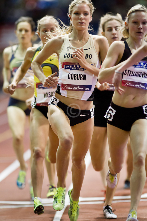 Millrose Games indoor track and field: women's mile, Emma Coburn, University of Colorado