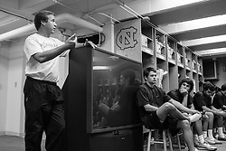 27 November 2007: North Carolina Tar Heels men's lacrosse head coach John Haus after a weight lifting session in Chapel Hill, NC.