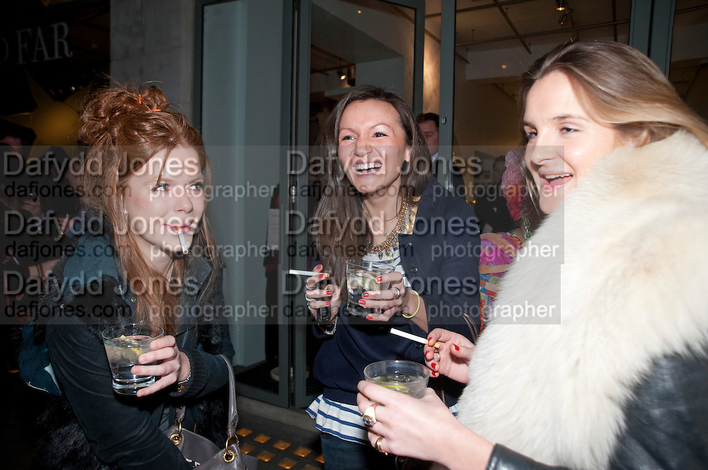 EMMA BURRETT; ZOE SHEPHERD;  GRACE HUDSON-EVANS, The Volunteer, A fundraiser for a school project in Uganda. The Henry Von Straubenzee Memorial Fund, <br /> Few And Far, 242 Brompton Road, London SW3, 11 February 2010.