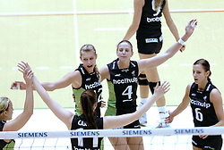 05-03-2006 VOLLEYBAL: FINAL 4 DAMES:  HCC MARTINUS - PLANTINA LONGA: ROTTERDAM<br /> In een mooie finale was Martinus in 4 sets te sterk voor Longa / Manon Flier en Chaine Staelens<br /> Copyrights2006-WWW.FOTOHOOGENDOORN.NL
