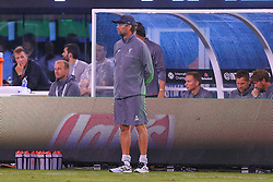 July 25, 2018 - East Rutherford, NJ, U.S. - EAST RUTHERFORD, NJ - JULY 25:  Liverpool head coach Jurgen Klopp during halftime of the International Champions Cup Soccer game between Liverpool and Manchester City on July 25, 2018 at Met Life Stadium in East Rutherford, NJ.  (Photo by Rich Graessle/Icon Sportswire) (Credit Image: © Rich Graessle/Icon SMI via ZUMA Press)