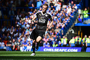 Leicester City Forward Jamie Vardy during the Barclays Premier League match between Chelsea and Leicester City at Stamford Bridge, London, England on 15 May 2016. Photo by Jon Bromley.
