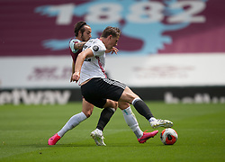 Josh Brownhill of Burnley (L) and Sander Berge of Sheffield United in action - Mandatory by-line: Jack Phillips/JMP - 05/07/2020 - FOOTBALL - Turf Moor - Burnley, England - Burnley v Sheffield United - English Premier League