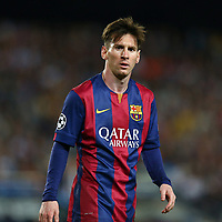 Lionel Messi of FC Barcelona looks on during the UEFA Champions League semi-final first leg match, between FC Barcelona and Bayern Munchen on May 6, 2015 at Camp Nou stadium in Barcelona, Spain. <br /> Photo: Manuel Blondeau/AOP.Press/DPPI