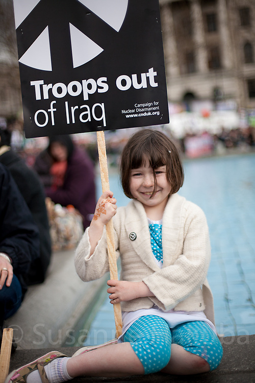 5 years of iraq war, protest, London, UK.