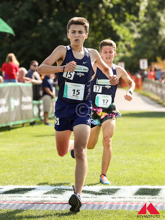 High School Miles held prioor to Beach to Beacon 10K road race, 22nd edition, held in Cape Elizabeth, Maine, USA, on August 3, 2019, finishing at the Portland Head Light in Fort Williams.