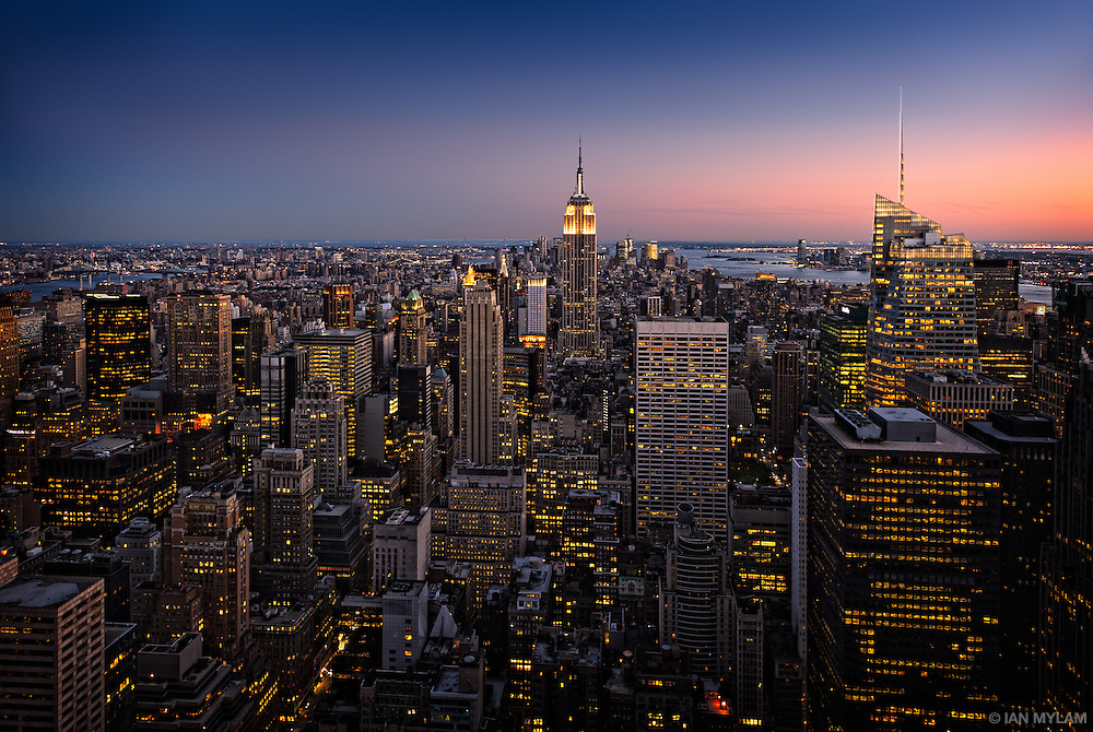 Dusk over Manhattan - New York City, U.S.A.