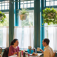"The Early Girl Eatery is a self-described ""farm to table southern comfort food experience."" It is located at 8 Wall Street in Downtown Asheville, North Carolina."
