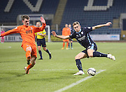 Dundee's Greg Stewart and Kilmarnock's Ross Barbour -  Dundee v Kilmarnock, SPFL Premiership at Dens Park <br /> <br /> <br />  - &copy; David Young - www.davidyoungphoto.co.uk - email: davidyoungphoto@gmail.com