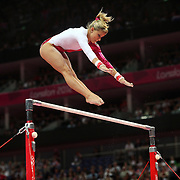 Elisabeth Seitz, Germany, in action during the Gymnastics Artistic, Women's Apparatus, Uneven Bars Final at the London 2012 Olympic games. London, UK. 6th August 2012. Photo Tim Clayton