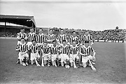 22/07/1962<br /> 07/22/1962<br /> 22 July 1962<br /> Leinster Hurling Final: Wexford v Kilkenny at Croke Park, Dublin. <br /> Kilkenny Team: O. Welsh, T. Welsh, J. Welsh, M. Walsh, S Cleere, A Hickey, M. Coogan, A. Comerford, N. Power, E. Keher, R. Carroll, W. Murphy, D. Heaship, S. Olohosey, W. Dwyer, Sub--O.Gough (for Comerford)