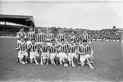 22/07/1962<br /> 07/22/1962<br /> 22 July 1962<br /> Leinster Hurling Final: Wexford v Kilkenny at Croke Park, Dublin. <br /> Kilkenny Team: O. Welsh, T. Welsh, J. Welsh, M. Walsh, S Cleere, A Hickey, M. Coogan, A. Comerford, N. Power, E. Keher, R. Carroll, W. Murphy, D. Heaship, S. Olohosey, W. Dwyer, Sub--O.Gough (for Comerford)