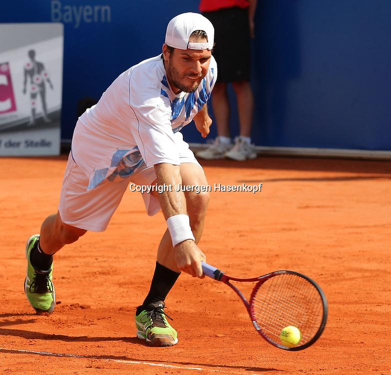 BMW Open 2012,250 ATP World Tour, Tennis Turnier, International Series,Iphitos Tennis Club, Sandplatz, Muenchen, Tommy Haas (GER),.Aktion,Einzelbild,Ganzkoerper,Querformat,,