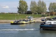 Nederland, Pannerden, 15-10-2018De pont over het Pannerdensch kanaal . Lage waterstand in de rivier Rijn. Door de langdurige droogte is er weinig wateraanvoer .Foto: Flip Franssen