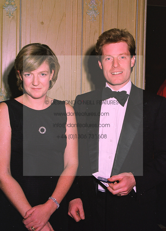 The HON.PETER & MRS STANLEY, he is the brother of the Earl of Derby, at a dinner in London on 19th November 1997.MDM 43