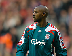 LIVERPOOL, ENGLAND - Saturday, January 26, 2008: Liverpool's goalkeeper Charles Itandje in action against Havant and Waterlooville during the FA Cup 4th Round match at Anfield. (Photo by David Rawcliffe/Propaganda)