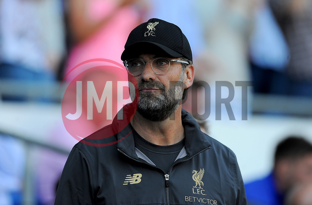 Liverpool manager Jurgen Klopp looks on - Mandatory by-line: Nizaam Jones/JMP - 21/04/2019 -  FOOTBALL - Cardiff City Stadium - Cardiff, Wales -  Cardiff City v Liverpool - Premier League
