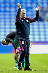 Aston Villa manager Steve Bruce celebrates their win tonight over Reading, 2-1 to Aston Villa - Mandatory by-line: Jason Brown/JMP - 18/10/2016 - FOOTBALL - Madejski Stadium - Reading, England - Reading v Aston Villa - Sky Bet Championship