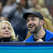 2019 US Open Tennis Tournament- Day Eleven. Alexis Ohanian, husband of Serena Williams of the United States and publicist Jill Smoller watching her match against Elina Svitolina of the Ukraine in the Women's Singles Semi-Finals match on Arthur Ashe Stadium during the 2019 US Open Tennis Tournament at the USTA Billie Jean King National Tennis Center on September 5th, 2019 in Flushing, Queens, New York City.  (Photo by Tim Clayton/Corbis via Getty Images)