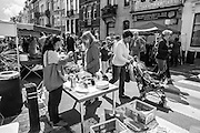 Grande brocante Cavell Village, Rue Vanderkindere, Bruxelles 26 June 2016. Photo: Erik Luntang