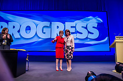 Pictured: Nicola Sturgeon and Leanne Wood<br /> The members of the SNP gathered in the Scottish Events Centre in Glasgow for their annual conference.<br /> <br /> The Ger Harley   EEm 9 October 2017