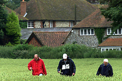 Sarah Payne, 8 year old girl missing..Local residents of Little Hampton, West Sussex help the police search for missing girl Sarah Payne in the fields around Highdown Hill, July 5, 2000. Photo by Andrew Parsons / i-images..