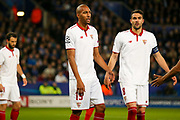 Sevilla midfielder Steven N'Zonzi (15) in action  during the Champions League round of 16, game 2 match between Leicester City and Sevilla at the King Power Stadium, Leicester, England on 14 March 2017. Photo by Simon Davies.