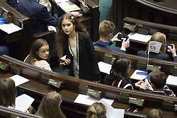 June 1, 2017 - Warsaw, Poland - Teenagers during 23. Parliamentary sitting of Children and Youth in Sejm on the occasion of Children's Day in Warsaw on June 1, 2017. (Credit Image: © Maciej Luczniewski/NurPhoto via ZUMA Press)