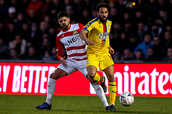 Andros Townsend of Crystal Palace takes on Danny Andrew of Doncaster Rovers  - Mandatory by-line: Robbie Stephenson/JMP - 17/02/2019 - FOOTBALL - The Keepmoat Stadium - Doncaster, England - Doncaster Rovers v Crystal Palace - Emirates FA Cup fifth round proper