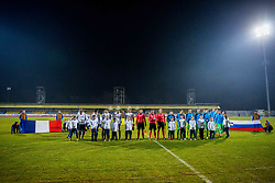 Players during football match between Slovenia and France in Qualifying round for European Under-21 Championship 2019, on November 13, 2017 in Sportni park, Domzale, Slovenia.  Photo by Ziga Zupan / Sportida